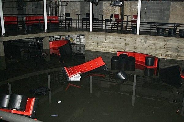 FLOOD DAMAGE AT GALAPAGOS ART SPACE