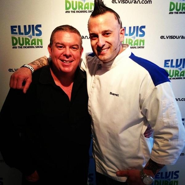 Chef Barret with Elvis Duran from New York's ZI00