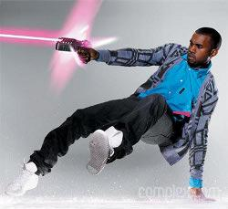Kanye gets ill on laser pointing fan during concert