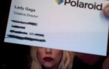 Lady Gaga Unleashes Her Inner Geek With Polaroid Camera Sunglasses!
