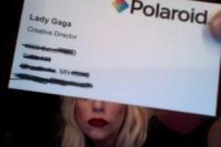 Lady Gaga Unleashes Her Inner Geek With Polaroid Camera Sunglasses!