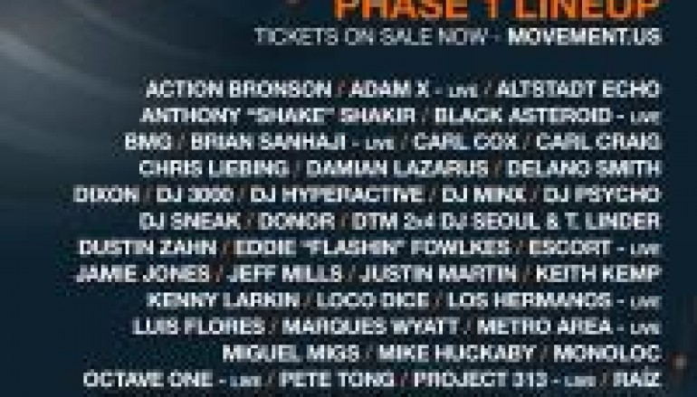 Movement Electronic Music Festival Releases Phase 1 Line Up And Official Trailer